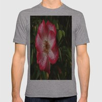 Pink Flower Mens Fitted Tee Athletic Grey SMALL