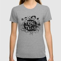 For Halloween - Trick or treat Womens Fitted Tee Athletic Grey SMALL
