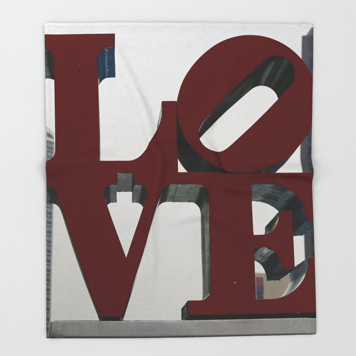 Love Philadelphia Sculpture Throw Blanket / 51