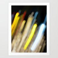 Electro Lights Art Print