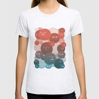 Blood Cells Womens Fitted Tee Ash Grey SMALL