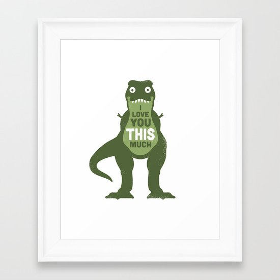 Amourosaurus Framed Art Print