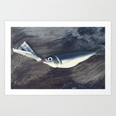 At the Bottom of the See Art Print