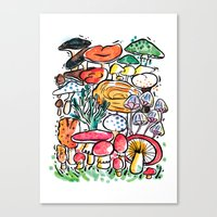 Fungi family Canvas Print