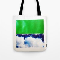 SKY/GRN Tote Bag