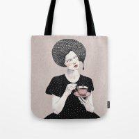 Nina In Black Tote Bag