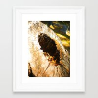 Fall Graveyard Framed Art Print