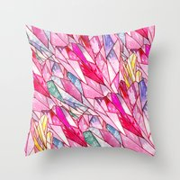 Crystal pattern Throw Pillow