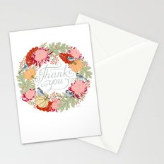 Thanksgiving thank you card Stationery Cards