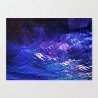 firey blues Canvas Print