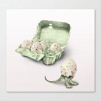 In Which Dinosaur Eggs A… Canvas Print