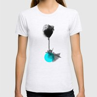 Around Me Womens Fitted Tee Ash Grey SMALL