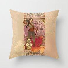 La fille du feu Throw Pillow