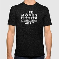 Life - Quotable Series Mens Fitted Tee Tri-Black SMALL