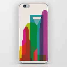Shapes of Charlotte accurate to scale iPhone & iPod Skin