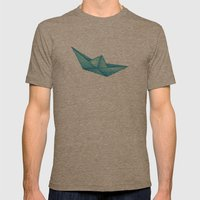 High Seas | Origami | Si… Mens Fitted Tee Tri-Coffee SMALL
