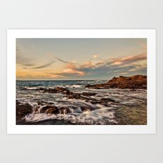 Bass point sunset  Art Print