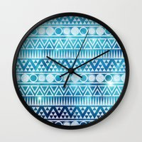 Tribal Ice Wall Clock