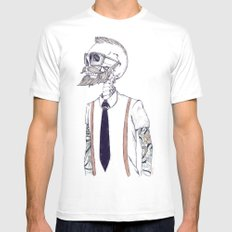 The Gentleman becomes a Hipster  Mens Fitted Tee White SMALL