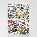 A map of Paris Stationery Cards
