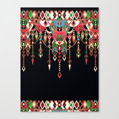 Modern Deco in Red and Black Canvas Print