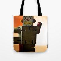Kung Fu Robot Tote Bag