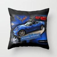 2016 Corvette Stingray Coupe Throw Pillow