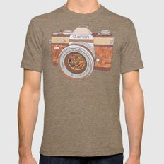Wood Canon Mens Fitted Tee Tri-Coffee SMALL