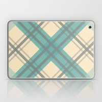 Teal Pastel Plaid Laptop & iPad Skin