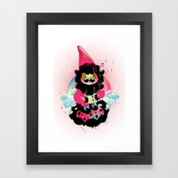 Whistling gnome Framed Art Print
