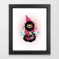 Whistling Gnome Framed Art Print