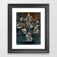 Bird Cage Chandelier Framed Art Print