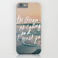 iPhone & iPod Case featuring The Ocean is Calling by Laura Ruth and Leah Flores by Leah Flores