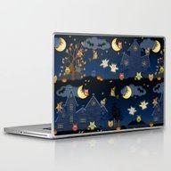 Halloween Owls Laptop & iPad Skin