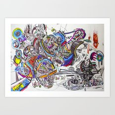 Primitives Under the Same Heaven Art Print