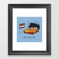 Bed Hair Day Framed Art Print
