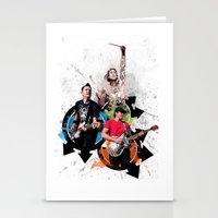 Blink-182 - Tom Delonge, Mark Hoppus, Travis Barker Stationery Cards