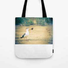 rebel gull. Tote Bag