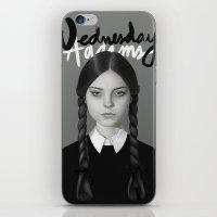 Wednesday Addams iPhone & iPod Skin