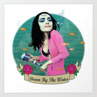 PJ Polly Jean down by the water Art Print