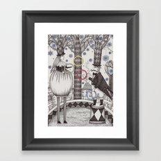Winter Circus Framed Art Print