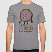 Sad Doughnut Mens Fitted Tee Athletic Grey SMALL