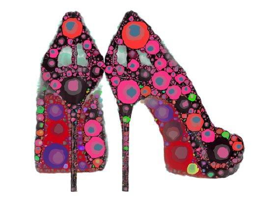 Rock n' Roll Stiletto High-Heels Art Print