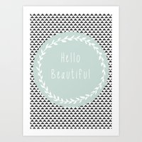 Hello Beautiful, Geometr… Art Print