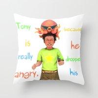 Angryocto - Tony's IceCream Throw Pillow