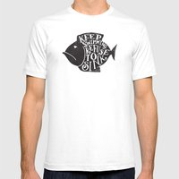 REFUSE TO SINK Mens Fitted Tee White SMALL