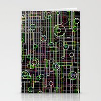 Electro Music Stationery Cards