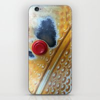 Red Button iPhone & iPod Skin