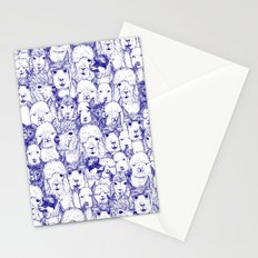 just alpacas blue white Stationery Cards