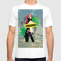 Sexy Censored Girl On Th… Mens Fitted Tee White SMALL